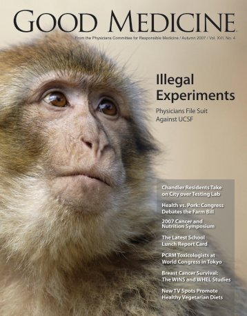 Illegal Experiments - Physicians Committee for Responsible Medicine