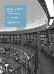 Datos y cifras del sistema universitario español (SUE) - Ministerio de ...
