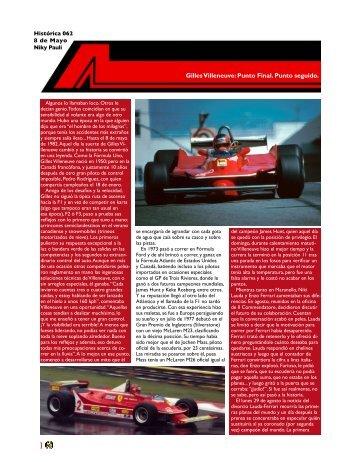 Gilles Villeneuve: Punto Final. Punto seguido. - Spor Car