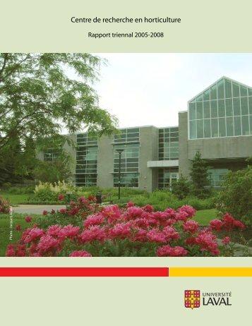 front recto - Centre de recherche en horticulture - Université Laval