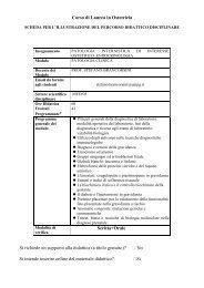 Patologia clinica - Facoltà di Medicina e Chirurgia