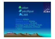 l'Action Spécifique ALMA - Graal