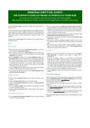 032013 POS Principali diritti del cliente - Artigiancassa