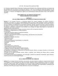 Reglamento de los Consejos Técnicos de Educación Básica