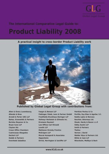 Product Liability 2008. Latvia chpater - Raidla Lejins & Norcous