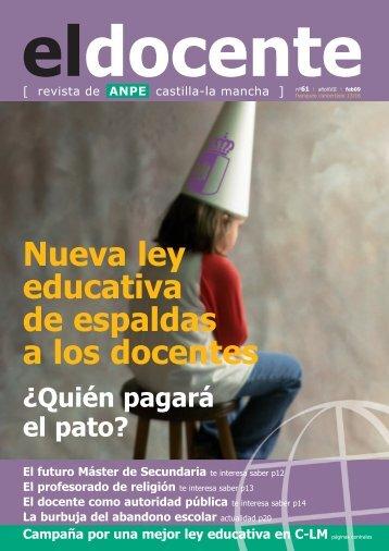 El profesorado de religión - Anpe Albacete Sindicato Independiente