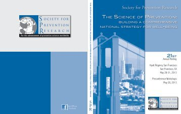 Program Book - Society for Prevention Research