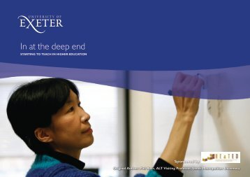 In at the deep end - Academic Services - University of Exeter