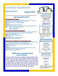 University Apartments Newsletter - Housing - UCLA