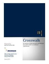 Crosswalk - Office of Public Health Practice - University of Michigan