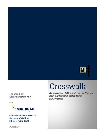 Crosswalk - Office of Public Health Practice - University of Michigan