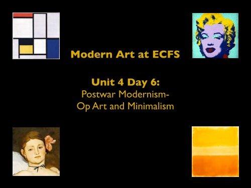 Op Art and Minimalism