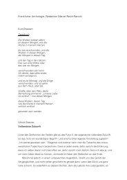 Vollendete Zukunft. – Frankfurter Anthologie«, in: FAZ ... - Kurt Drawert