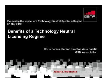 Benefits of a Technology Neutral Licensing Regime Dilemma Dilemma