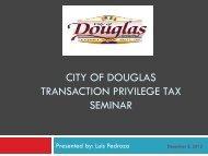Douglas Sales Tax Presentation - City of Douglas Arizona