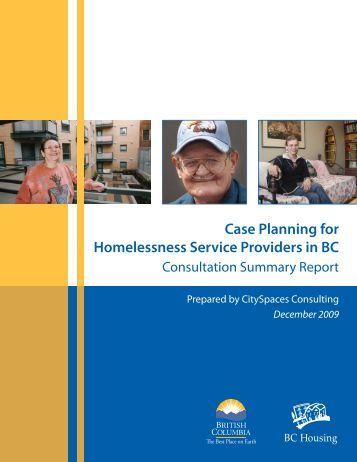 Case Planning Consultation Summary - BC Housing
