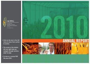 ACPFG Annual report 2010 volume 1 final.pdf