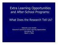 Extra Learning Opportunities and After-School Programs - Center for ...