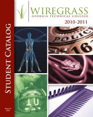 Student Catalog - Wiregrass Georgia Technical College