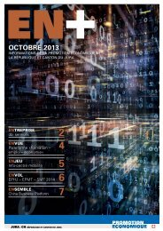octobre 2013 - Promotion économique de la république et canton du ...