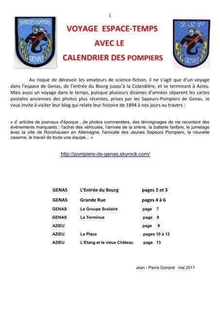 Calendrier Virtuel.Voyage Espace Temps Avec Le Calendrier Des Pompiers Genas