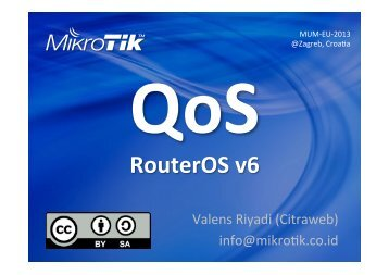 QoS RouterOS v6 - MUM - MikroTik