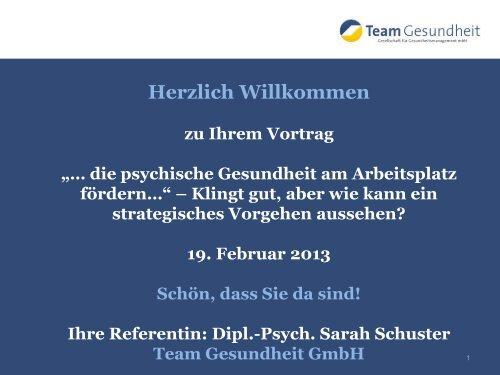 Präsentation: Sarah Schuster - BKK-Landesverband NORDWEST