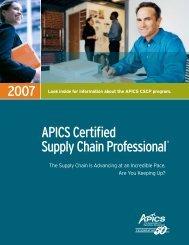 APICS Certified Supply Chain Professional® - APICS Toledo