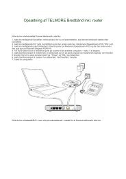 Opsætning af TELMORE Bredbånd inkl. router