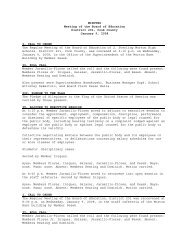 MINUTES Meeting of the Board of Education District 201, Cook ...