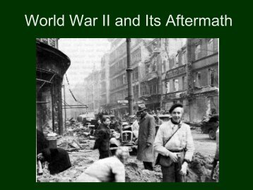 The Aftermath Of War Edsitement