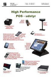 High Performance POS - udstyr - DKC