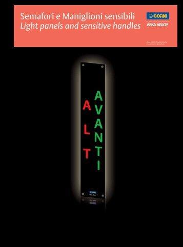 Semafori e Maniglioni sensibili Light panels and ... - ASSA ABLOY