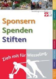 Sponsoringkatalog der Stadt Wesseling