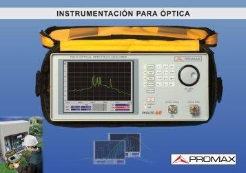 Catálogo de Fibra Óptica - Promax