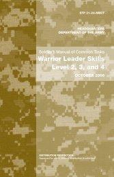 Warrior Leader Skills Level 2, 3, and 4 - Survival Books