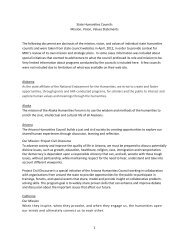 1 State Humanities Councils Mission, Vision, Values Statements The ...