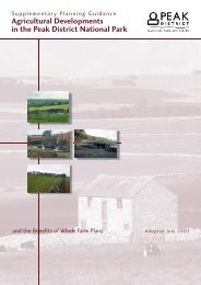 Agricultural Developments in the Peak District National Park