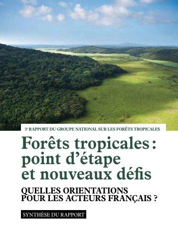 Forêts tropicales : point d'étape et nouveaux défis - Ministère de l ...