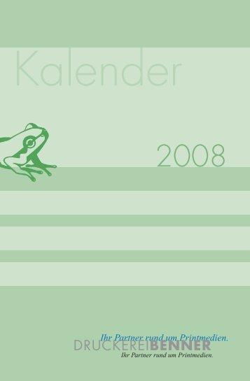 Kalender - Druckerei BENNER
