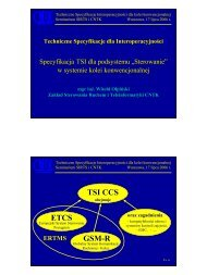 ETCS GSM-R TSI CCS - sirts