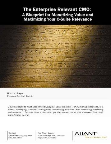 White Paper: The Enterprise Relevant CMO - Allant