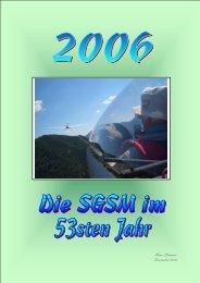Das Jahr 2006 - Segelfluggruppe Siemens München eV