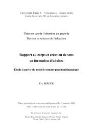 Rapport au corps et création de sens en formation d ... - E-Corpus