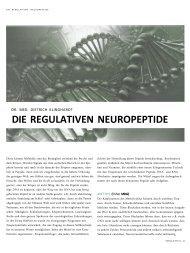 DIE REGULATIVEN NEUROPEPTIDE - Cinak