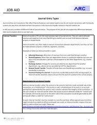 Journal Entry Types - Finance Gateway