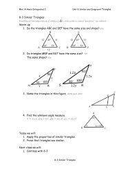 8-3 Similar Triangles notes