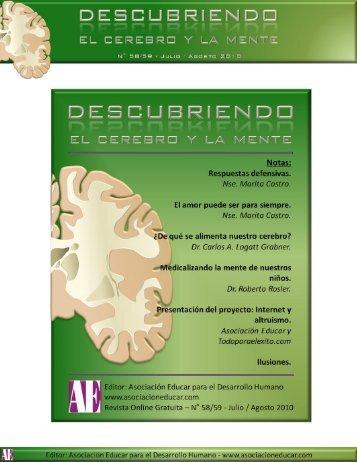 ¿De qué se alimenta nuestro cerebro? - Asociación Educar