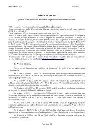 Projet Décret statutaire rédacteur - 123territorial
