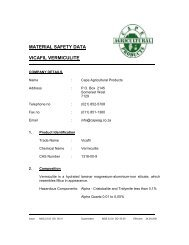 a safety data sheet on Vermiculite[33Kb] - Cape Agricultural Products